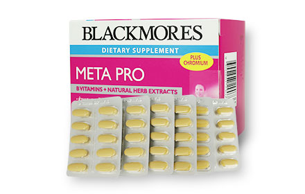 Blackmores Meta Pro B Vitamins+Natural Herb Extracts (60 Tablets)