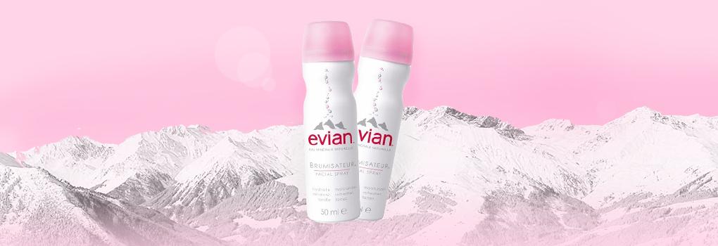 แพ็คคู่ Evian Brumisateur Facial Spray (50ml x2)