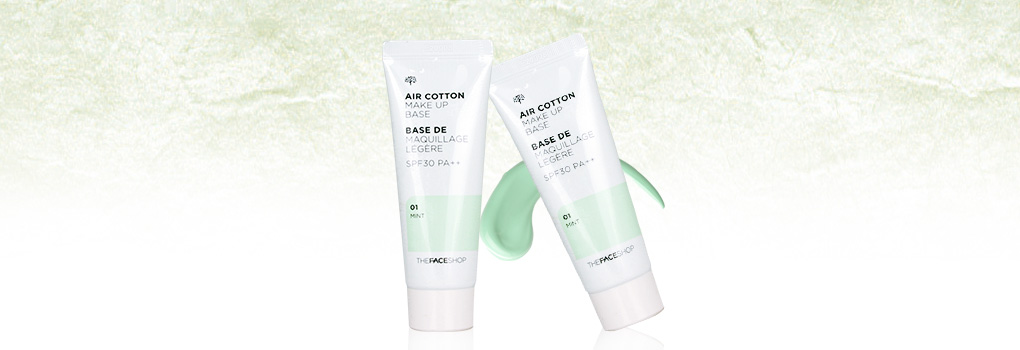 แพ็คคู่ The Face Shop Air Cotton Make Up Base SPF30 PA++ #01 Mint (35ml x2)