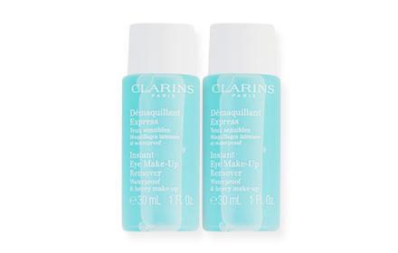 แพ็คคู่ Clarins Instant Eye Make-Up Remover Waterproof & Heavy Make-Up (30ml×2)