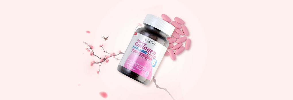 Vistra Marine Collagen Tri Peptide 1300 & Coenzyme Q10 30 Tablets