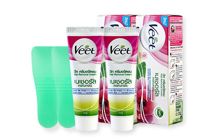 [แพ็คคู่] Veet Hair Removal Cream Camellia Seed Oil Sensitive Skin [25g x 2pcs]