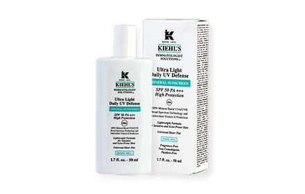 Kiehl's Ultra Light Daily UV Defense Mineral Sunscreen SPF50PA+++ 50ml