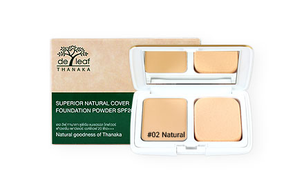De Leaf Thanaka Superior Natural Cover Foundation Powder 7g #02 Natural