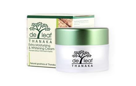 De Leaf Thanaka Moisturizing And Whitening Cream 45g
