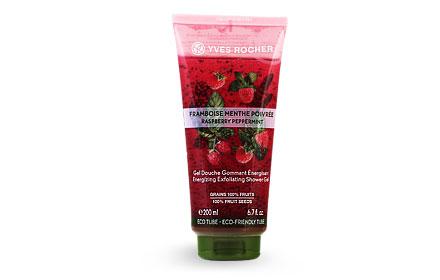 Yves Rocher Energizing Exfoliating Shower Gel 200ml #Raspberry Peppermint