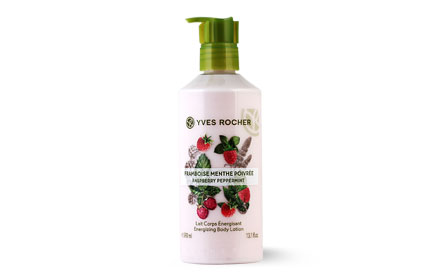 Yves Rocher Energizing Body Lotion 390ml # Raspberry Peppermint