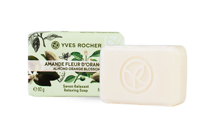 Yves Rocher Relaxing Soap 80g #Almond Orange Blossom