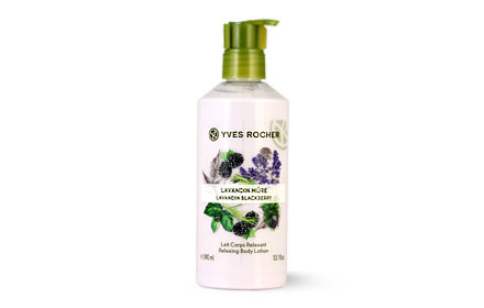 Yves Rocher Relaxing Body Lotion 390ml #Lavandin Blackberry