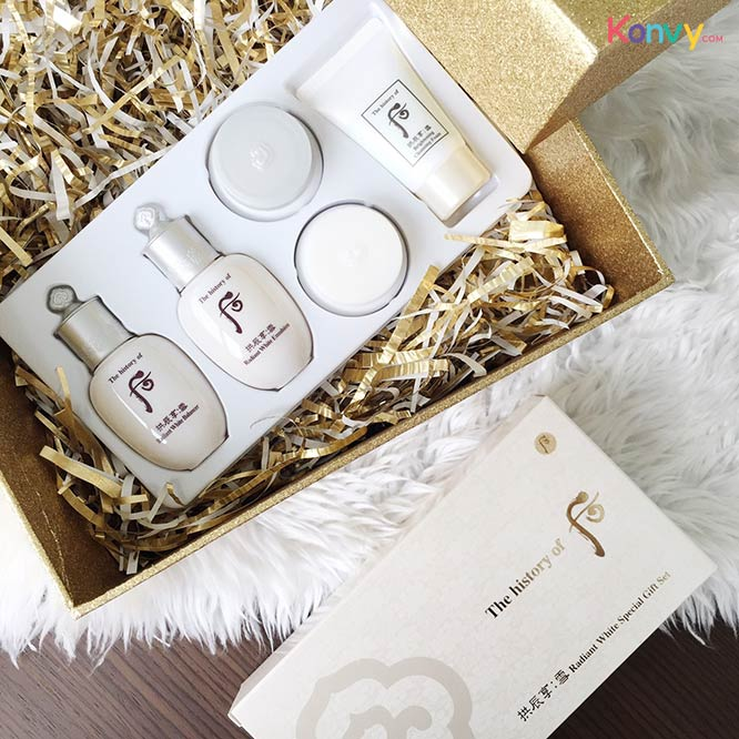 The History of Whoo GongJinHyang Seol Radiance White Special Gift Set 5 items