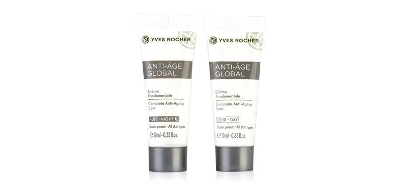 Yves Rocher Anti-Age Global Travel Set 2 Items (Night Care 10ml + Day Care 10ml) (สินค้านี้ไม่ร่วมรายการซื้อ2ชิ้นฟรีค่าจัดส่ง)