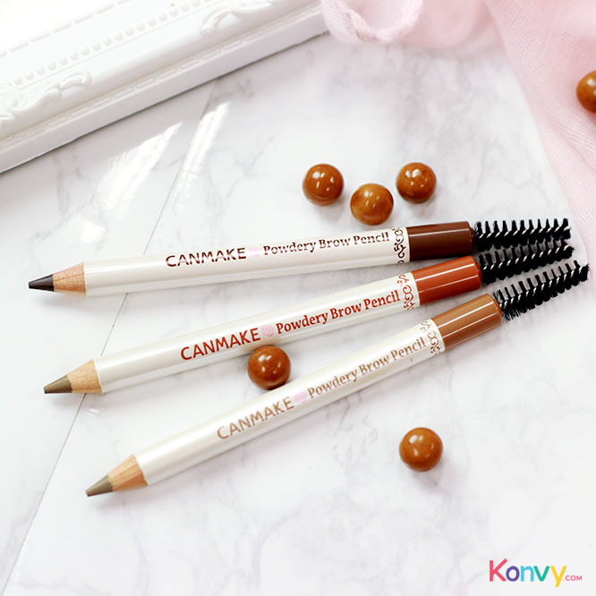 Canmake Powdery Brow Pencil #01_2