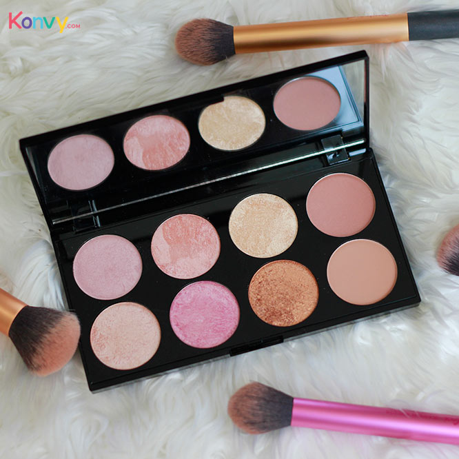 Makeup Revolution Ultra Blush Palette #Golden Sugar 2 Rose Gold_2