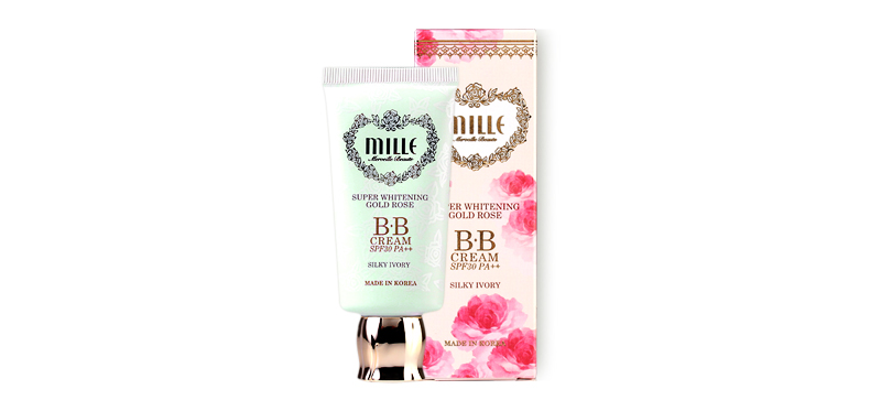 Mille Super Whitening Gold Rose BB Cream SPF30PA++ 30g #1 Silky Ivory
