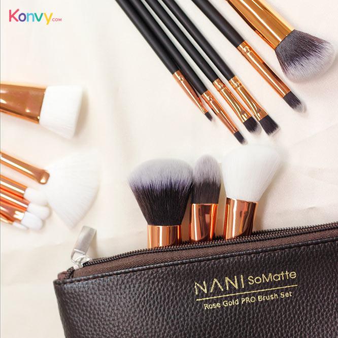 NANI SoMatte Rose Gold PRO Brush Set 15pcs_1