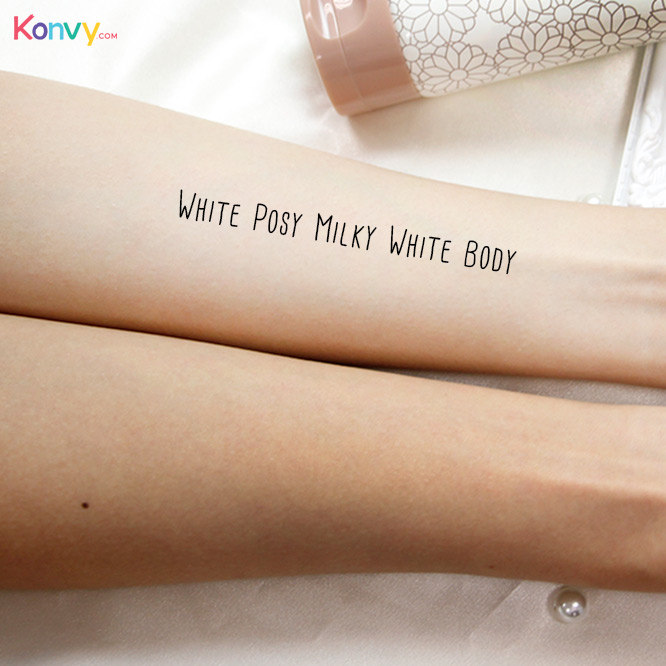 Bisous Bisous White Posy Milky White Body With Glutathione Collagen Milk Extract 100g_4
