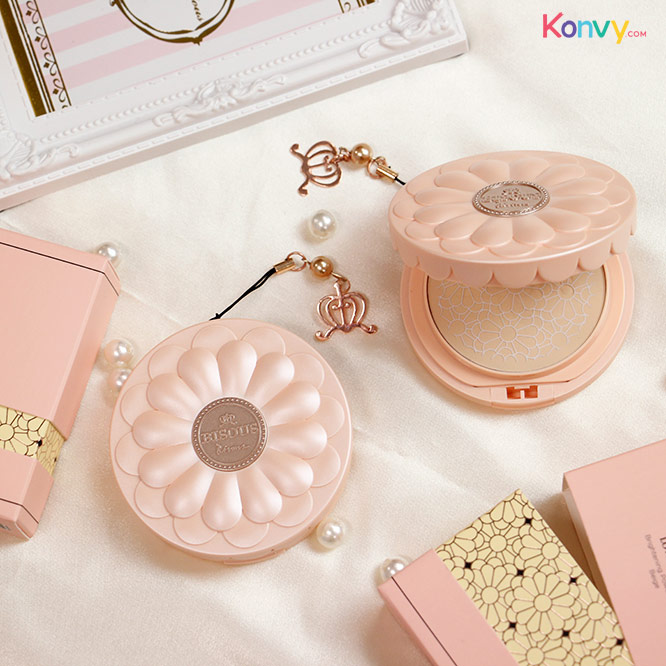 Bisous Bisous Love Blossom Brightening Powder Pact #1 Beige 10g_2