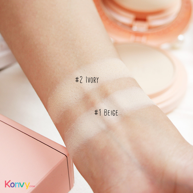 Bisous Bisous Love Blossom Brightening Powder Pact #1 Beige 10g_4