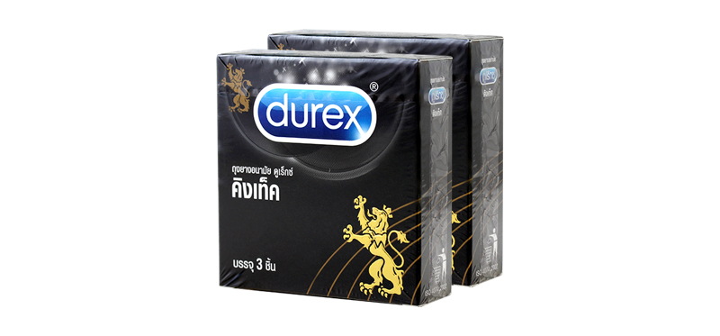 [แพ็คสอง] Durex Kingtex Condom 49mm [3pcs x 2boxes]