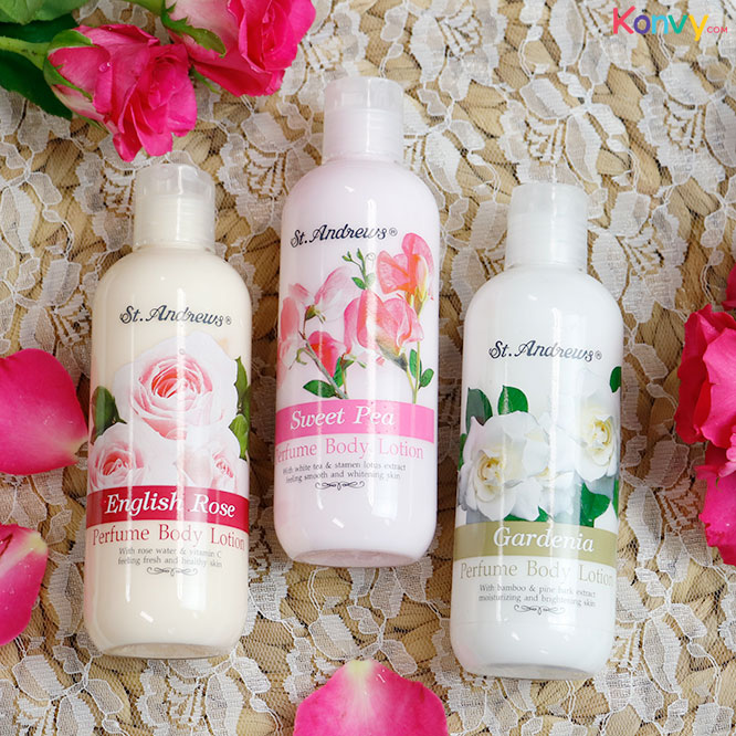 St. Andrews English Rose Perfume Body Lotion 250ml_1