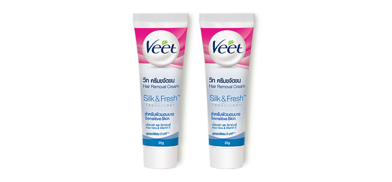 [แพ็คคู่] Veet Hair Removal Cream Aloe Vera & Vitamin E Sensitive Skin [25g x 2pcs]