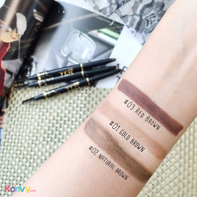TER Masterpiece 3D Waterproof Auto Eyebrow Pencil #02 Natural Brown_3
