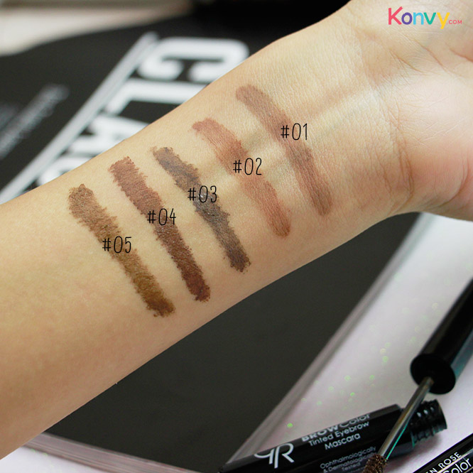 Golden Rose Brow Color Tinted Eyebrow Mascara #01_3