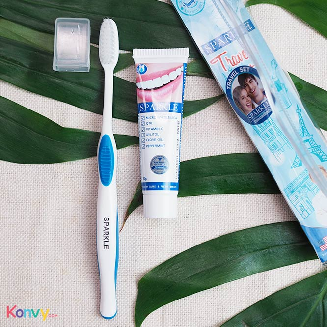 Sparkle Travel Set 2 Items (White Toothbrush + Toothpaste 20g SK0172)_1
