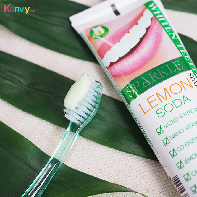 แพ็คคู่ Sparkle Double White Toothpaste 100g x 2 #Lemon Soda (SK0084)_4