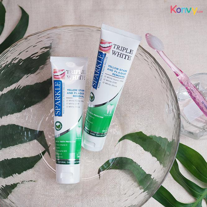 แพ็คคู่ Sparkle Tripple White Toothpaste 100g x 2 (SK0167)_2