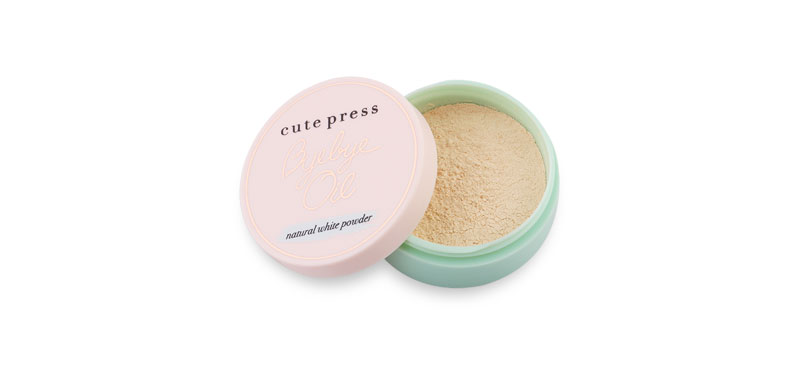Cute Press Bye Bye Oil 6g #Natural White Powder