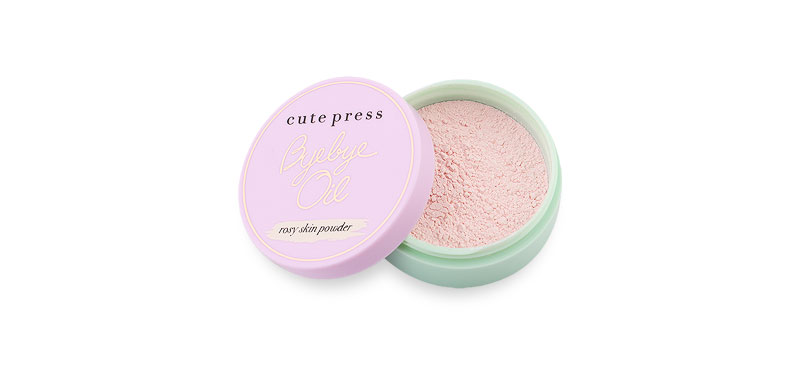 Cute Press Bye Bye Oil 6g #Rosy Skin Powder