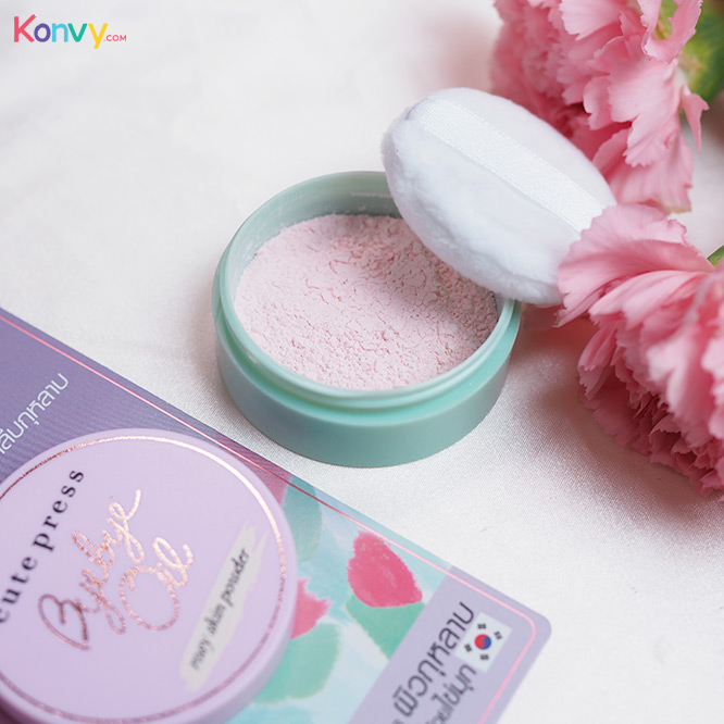 Cute Press Bye Bye Oil 6g #Rosy Skin Powder_3