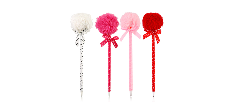 Ter Cute Pen (#Red #Pink #White - Random 1pcs)