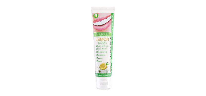 Sparkle Double White Toothpaste 100g #Lemon Soda (Tube)