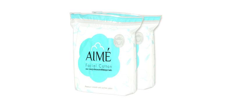 แพ็คคู่ Aime Facial Cotton 80g (150pcs x 2)