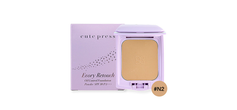 Cute Press Evory Retouch Oil Control Foundation Powder SPF 30 PA+++ #N2