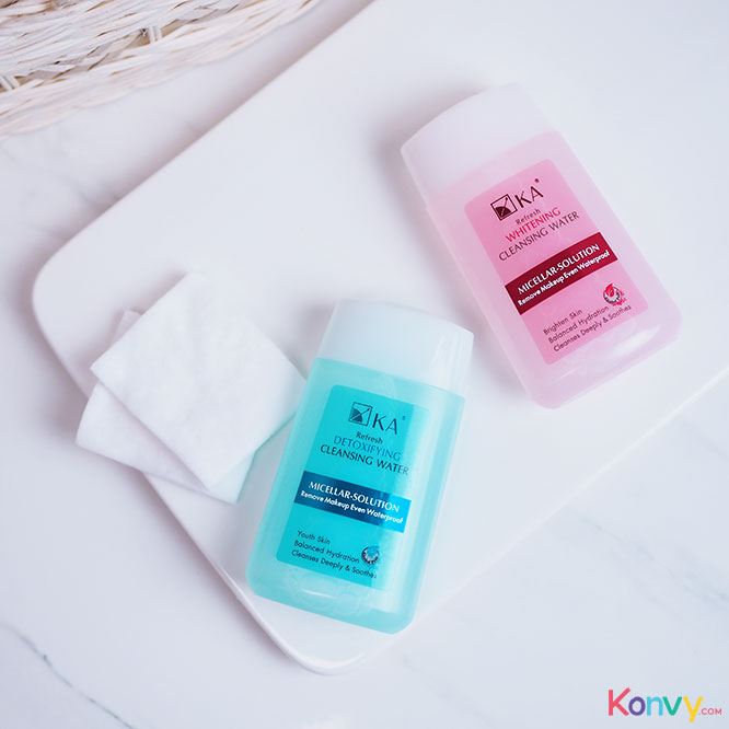 เเพ็็คคู่ Ka Refresh Cleansing Water Whitening (85ml x 2pcs)_1