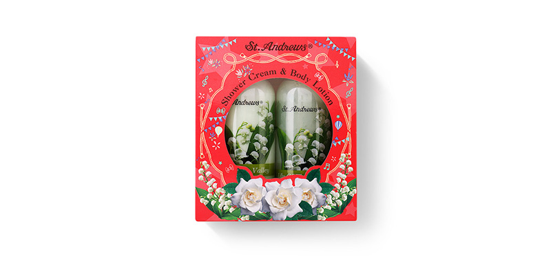 St.Andrews Happiness Gift Set 2 Items (Shower Cream Lilly Of The Valley 250ml + Body Lotion Lilly Of The Valley 250ml)