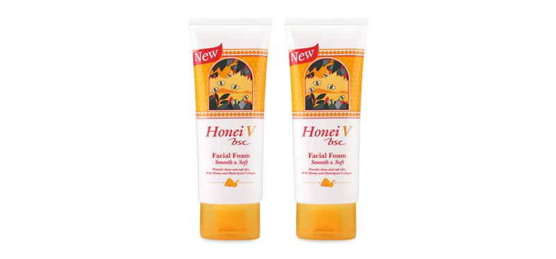 แพ็คคู่ Honei V Bsc Facial Foam Smooth & Soft (100g x 2)