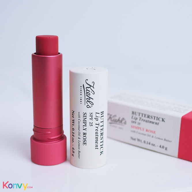 Kiehl's Butterstick Lip Treatment SPF25 4g #Simply Rose