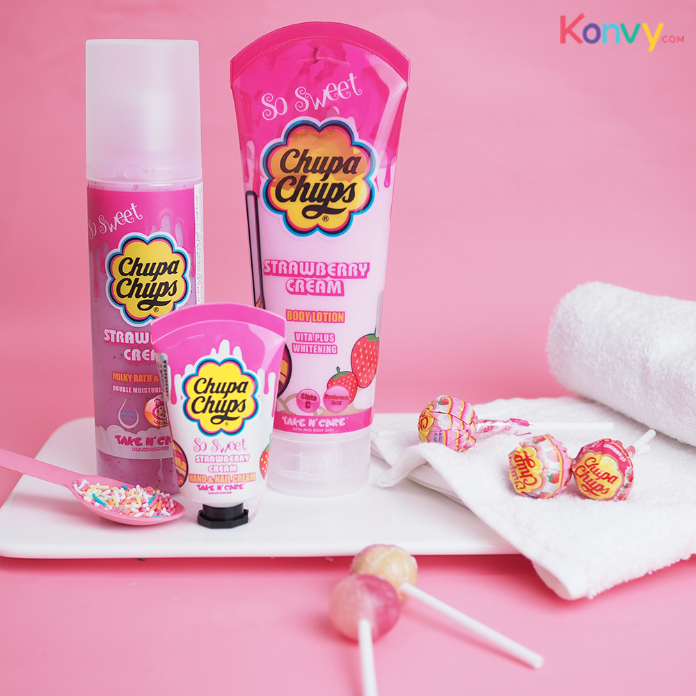 Chupa Chups So Sweet Milky Bath & Shower 250ml #Strawberry Cream_1