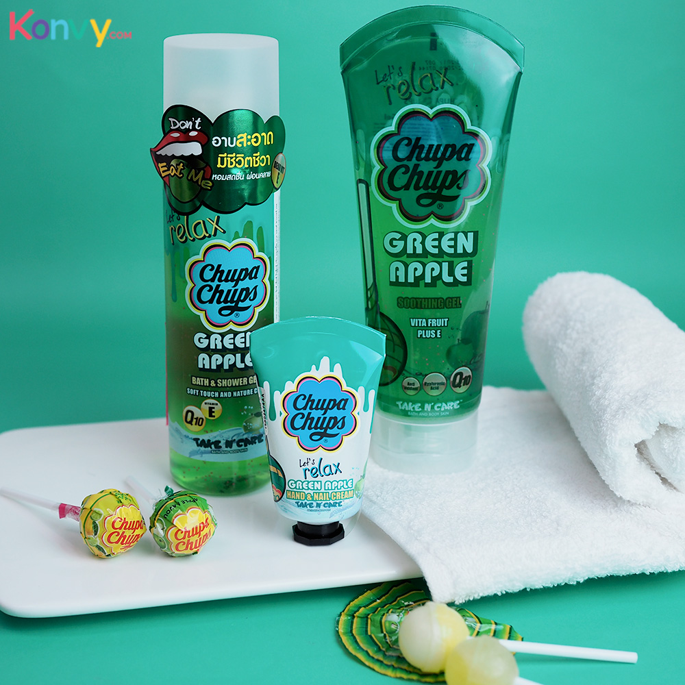 Chupa Chups Let's Relax Soothing Gel 200ml #Green Apple_1