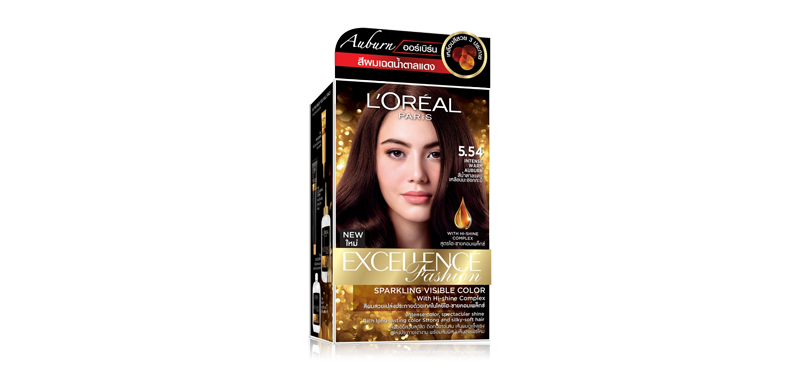 L'Oréal Paris Excellence Fashion Auburn 260g #5.54 Intense Warm Auburn