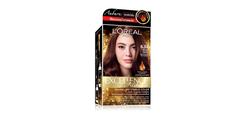 L'Oréal Paris Excellence Fashion Auburn 260g #6.34 Intense Golden Auburn