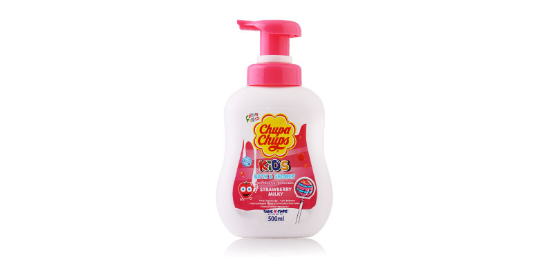 Chupa Chups Kids Bath & Shower 500ml #Strawberry Milk