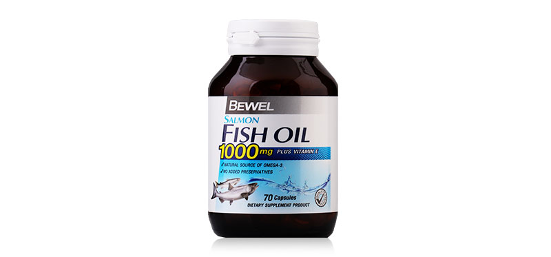 Bewel Salmon Fish Oil Plus Vitamin E 1000mg 70 Capsules