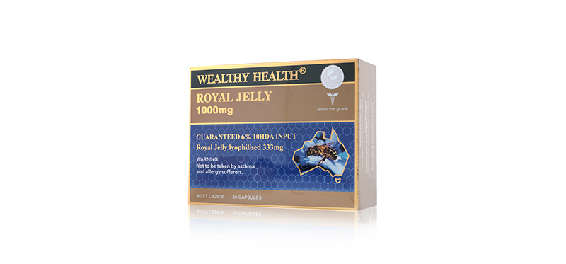 Wealthy Health Royal Jelly 1000mg 30 Capsules