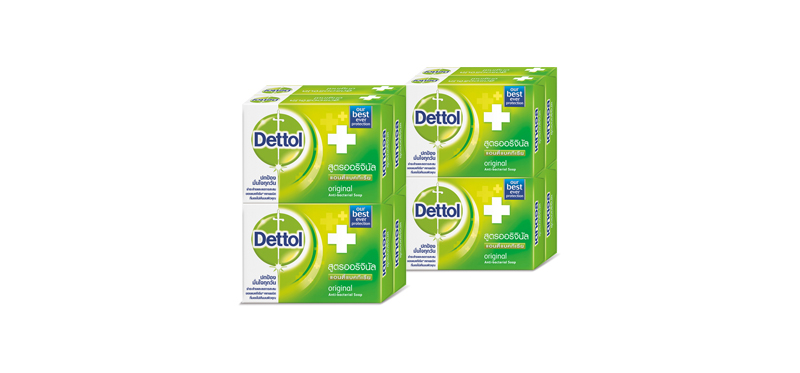 [แพ็คคู่] Dettol Anti-Bacterial Soap Original [65g x 8pcs]