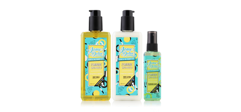 Jome doba Feminne Sao Paulo Set 3 Items (Body Wash 236ml + Body Lotion 236ml + Fragrance Mists 100ml) ( สินค้าหมดอายุ : 2020.08 )